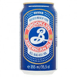 Brooklyn American Ale Beer can 355ml - Case of 12