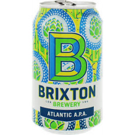 Brixton Atlantic Apa Beer can 330ml - Case of 24