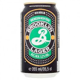 Brooklyn Lager Beer can 355ml - Case of 12