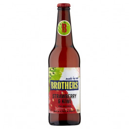 Brothers Strawberry and Kiwi Cider NRB 500ml - Case of 12