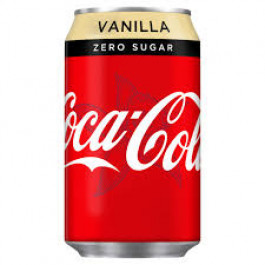 Coca Cola Zero Sugar Vanilla can 330ml - Case of 24