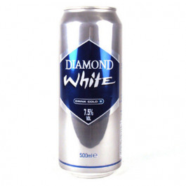 Diamond White Cider can 500ml - Case of 24
