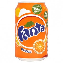 Fanta Orange can 330ml - Case of 24