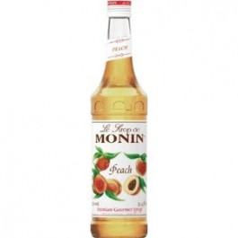 Monin Peach Syrup 70cl - Case of 6