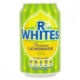R Whites Premium Lemonade can 330ml - Case of 24