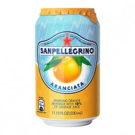 San Pellegrino Aranciata can 330ml - Case of 24
