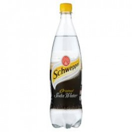 Schweppes Soda Water 1 Litre - Case of 6