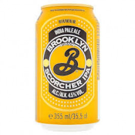 Brooklyn Scorcher IPA Beer can 355ml - Case of 12
