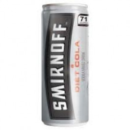 Smirnoff Vodka & Diet Cola Can 250ml - Case of 12