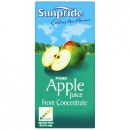 Sunpride 100% Apple Juice 1 Litre - Case of 12