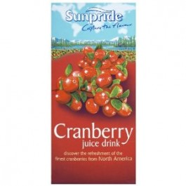 Sunpride 100% Cranberry Juice 1 Litre - Case of 12