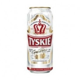 Tyskie Beer can 500ml - Case of 24