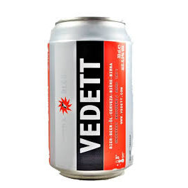 Vedett Extra Blond Lager Beer Can 330ml - Case of 24