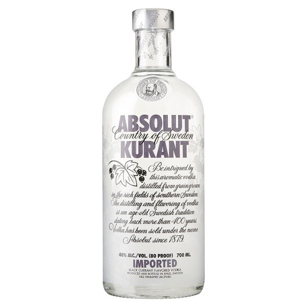 Absolut Kurant Vodka 70cl - Case of 6 Online Cash And Carry