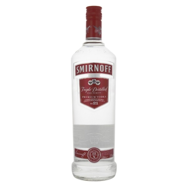 1 litre bottle of smirnoff vodka