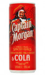 Captain Morgan Spiced & Cola Can 250ml - Case of 12