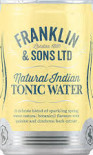 Franklin Natural Indian Tonic Water can 200ml - Case of 24