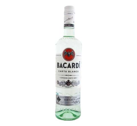Bacardi Carta Blanca Rum 70cl - Case of 6
