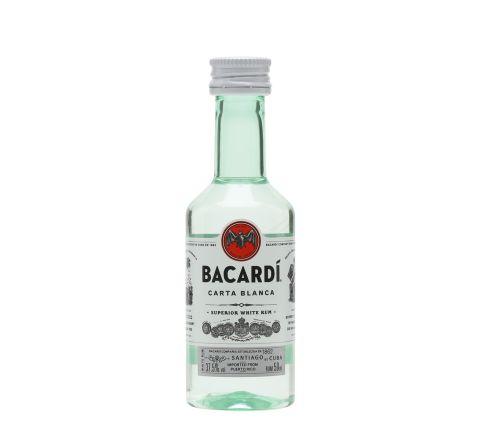 Bacardi Carta Blanca Rum Miniature 5cl - Case of 12