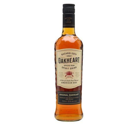 Bacardi Oakheart Rum 70cl - Case of 6