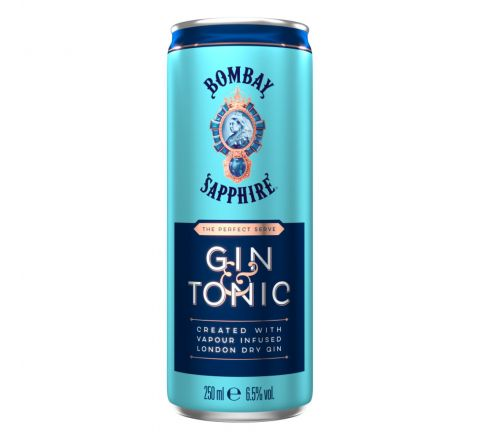 Bombay Sapphire Gin and Tonic Alcopops Can 250ml - Case of 12