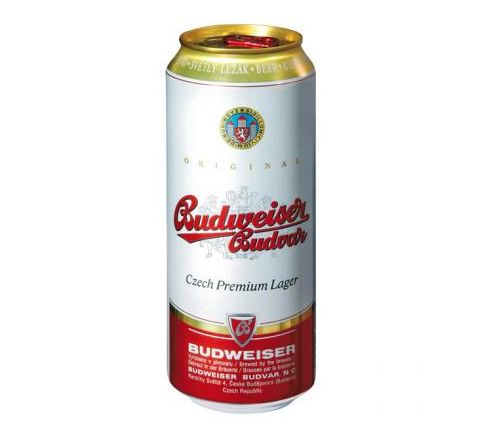 Budweiser Budvar Beer can 500ml - Case of 24