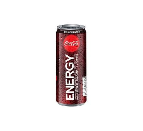 Coca Cola No Sugar Energy Drink 250ml - Case of 12