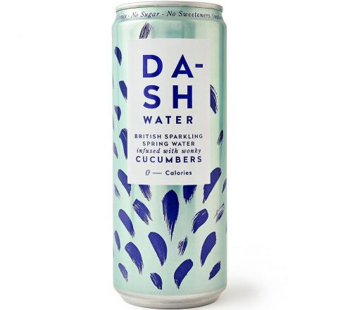 Dash Water Sparkling Cucumber Water Can 330ML - Case of 12