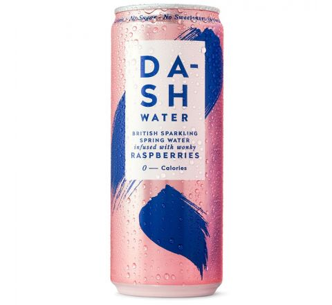 Dash Water Sparkling Raspberry Water Can 330ML - Case of 12