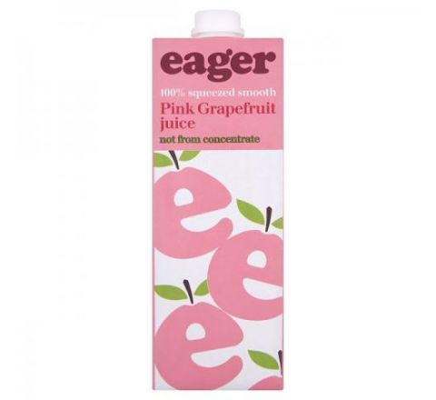Eager Grapefruit Juice 1 Litre - Case of 8