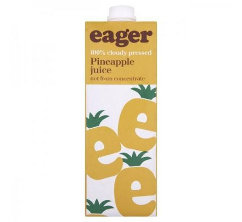 Eager Pineapple Juice 1 Litre - Case of 8