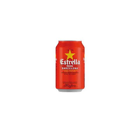 Estrella Damm Beer can 330ml - Case of 24