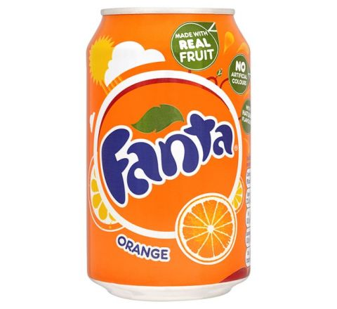 Fanta Orange can 330ml - Case of 24 (GB)