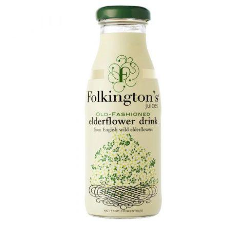 Folkingtons Elderflower Drink NRB 250ML - CASE OF 12