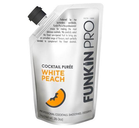 Funkin Pro White Peach Purées 1 kg - Case of 5