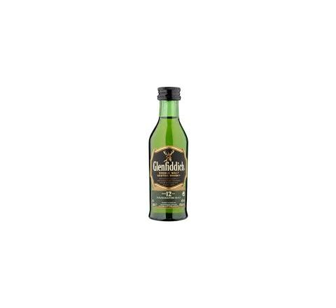 Glenfiddich 12 YO Whisky Miniature 5cl - Case of 12
