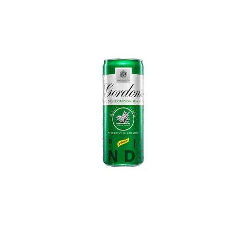 Gordons Gin and Tonic Alcopops Can 250ml - Case of 12