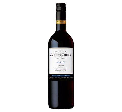 Jacob's Creek Merlot Wine 75cl - Case of 6