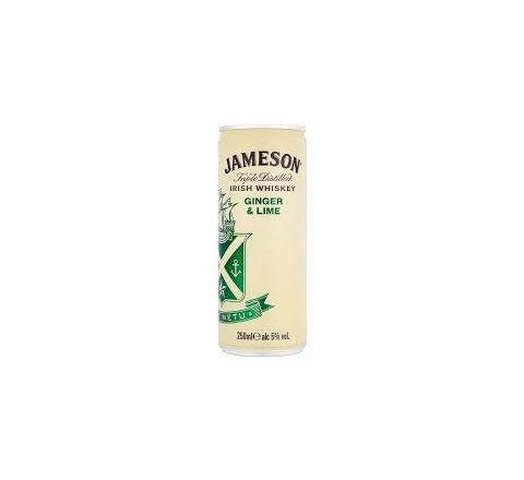 Jameson Whiskey & Ginger Lime Alcopops Can 250ml - Case of 12