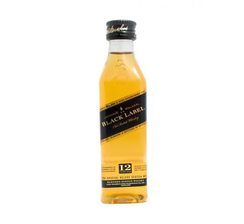 Johnnie Walker Black Whisky Miniature 5cl - Case of 12