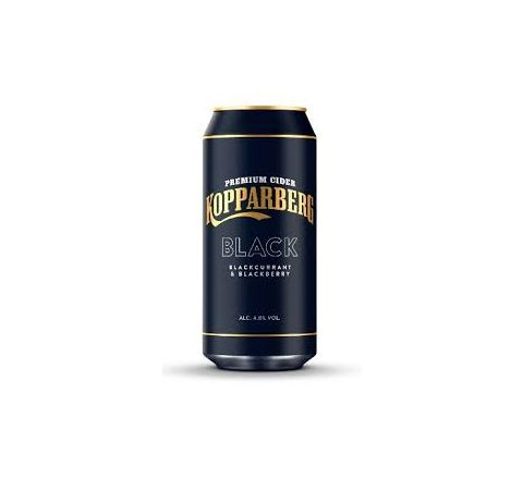 kopparberg Black Cider can 440ml - Case of 24