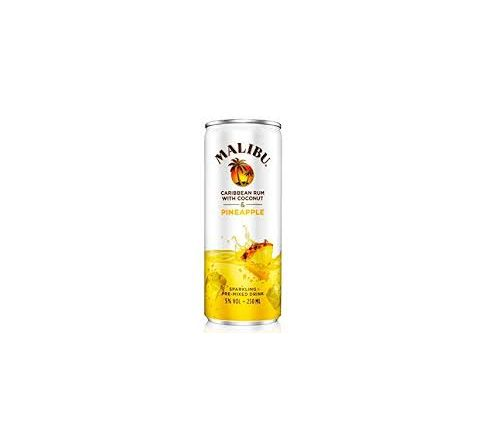 Malibu and Pineapple Alcopops Can 250ml - Case of 12