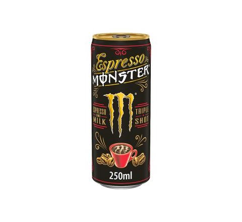 Monster Energy Espresso Milk Cans  250ML - CASE OF 12
