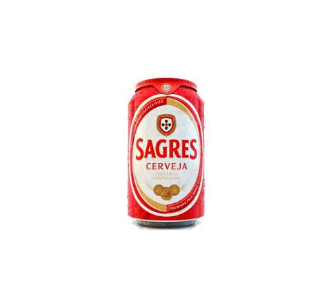 Sagres Beer 330ml can - Case of 24
