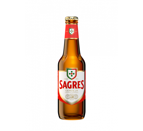Sagres Lager Beer NRB 330ml - Case of 24