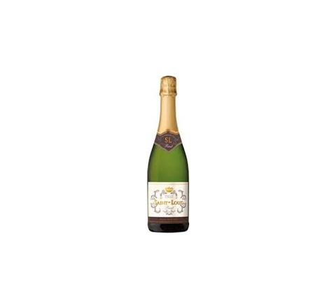 Saint Louis Blanc de Blanc Brut NV Sparkling Wine 75cl - Case of 6
