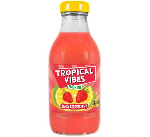 Tropical Vibes Lemonade Sassy Strawberry NRB 300ML - CASE OF 15